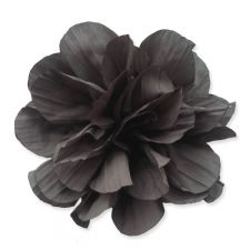 10cm Ruffled GREY Fabric Flower Applique